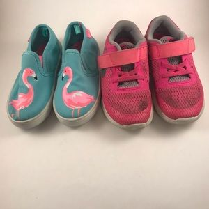 Girls Pair of Sneakers size 10-Nike, Carter's